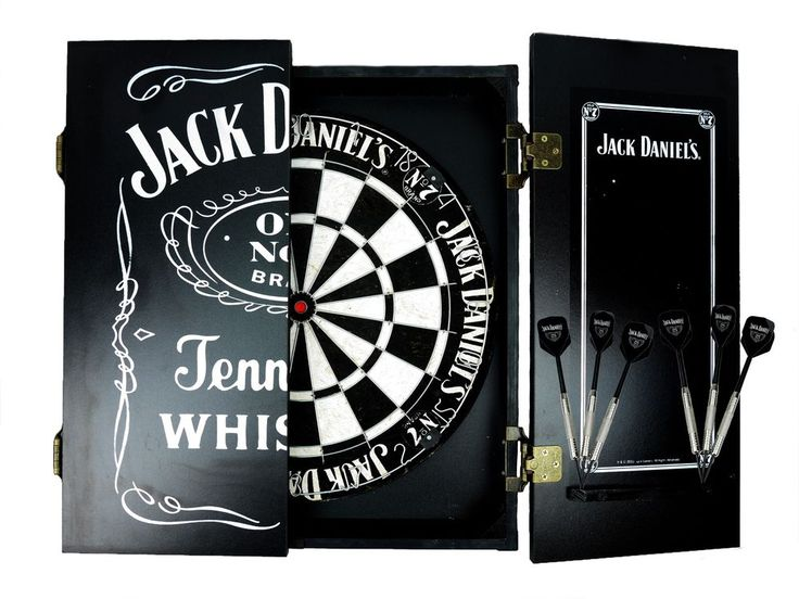 Jack Daniels dartboard cabinet set and darts man cave pool room Licensed gift #LicensingEssentials