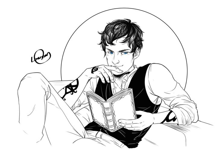"hannazahir: "" loweana: ""  ""One must always be careful of books,"" said Tessa, ""and what is inside them, for words have the power to change us."" Cassandra Clare, The Infernal Devices • Digital Inktober n°18 : Will Herondale • @hannazahir hope you like..."