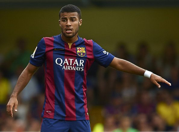 Rafinha of Barcelona in action during the La Liga match between Villarreal CF and FC Barcelona at El Madrigal stadium on August 31, 2014 in Villarreal, Spain.