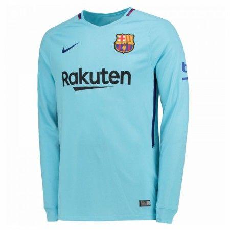 Barcelona Udebanetrøje 17-18 Lange ærmer  #Billige Fodboldtrøjer