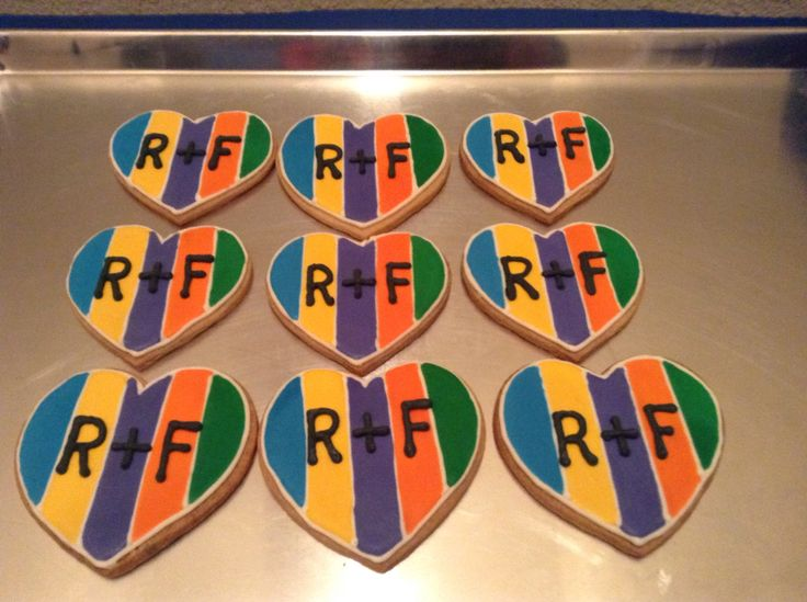 Rodan and Fields logo decorated sugar cookie
