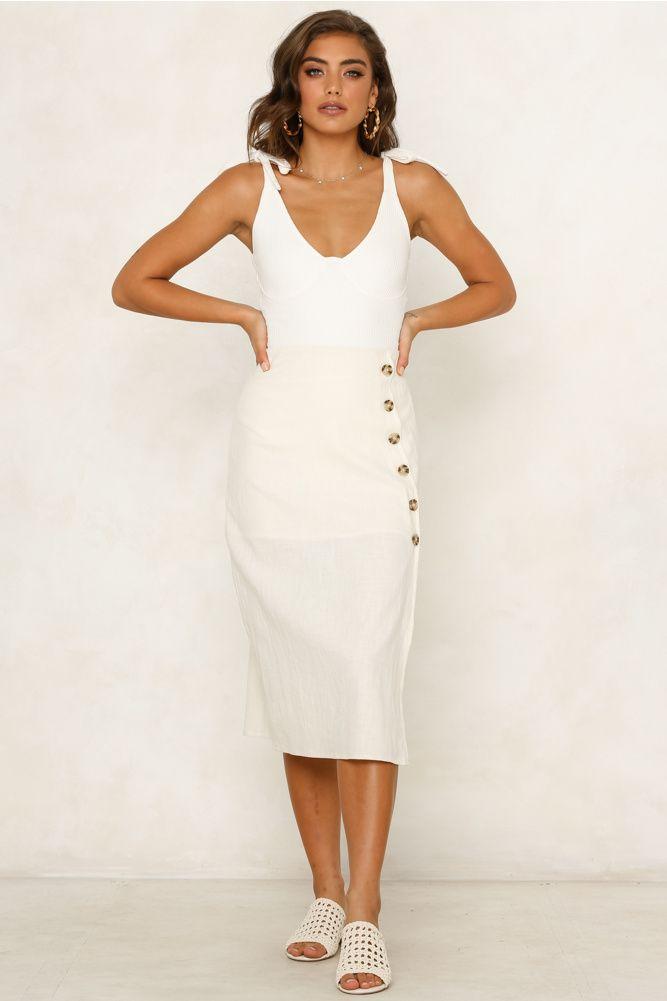 7633f66c4c Sunday Sweetner Midi Skirt White in 2019 | 20something | White ...