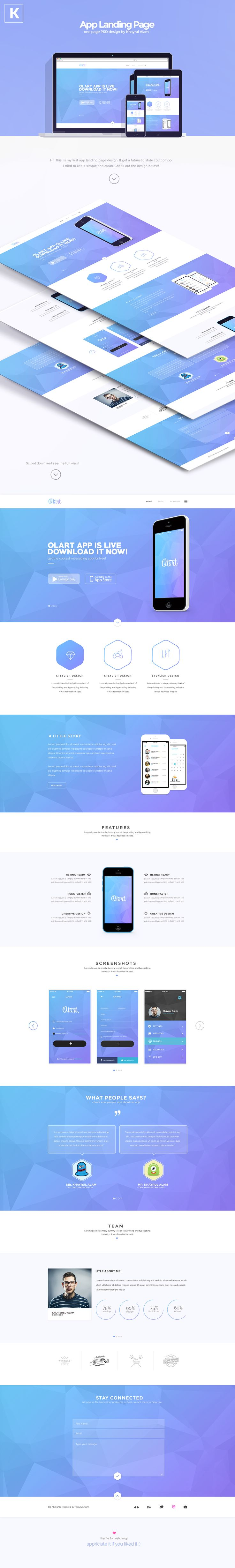 Olart - App Landing Page on Behance