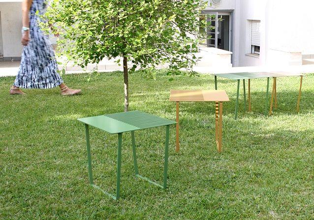 Les tables ne vont pas toujours par paires, pourtant cette fois les designers de Dextrous Design ont imaginé un couple de table plutôt sympa! Un couple de table qui a comme origine une feuille méta…