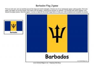 Barbados Flag Jigsaw