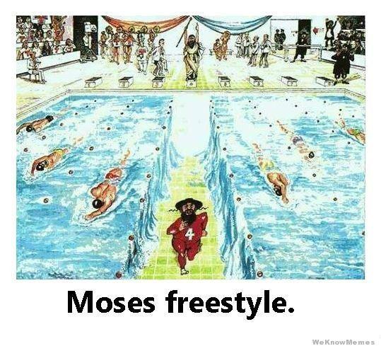 swim team/Bible humor lol. In honor of my schools first swim meet ;))))
