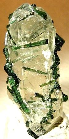 Elbaite on quartz  Origin:Taquaral, Minas Gerais, Brazil: Brazil Crystals, Quartz Origin, Gem Stones, Gemstones Crystals Stones, Colorful Gemstones, Gems Crystals, Crystals Gemstones, Gemstone Formations, Gems Rocks Crystals