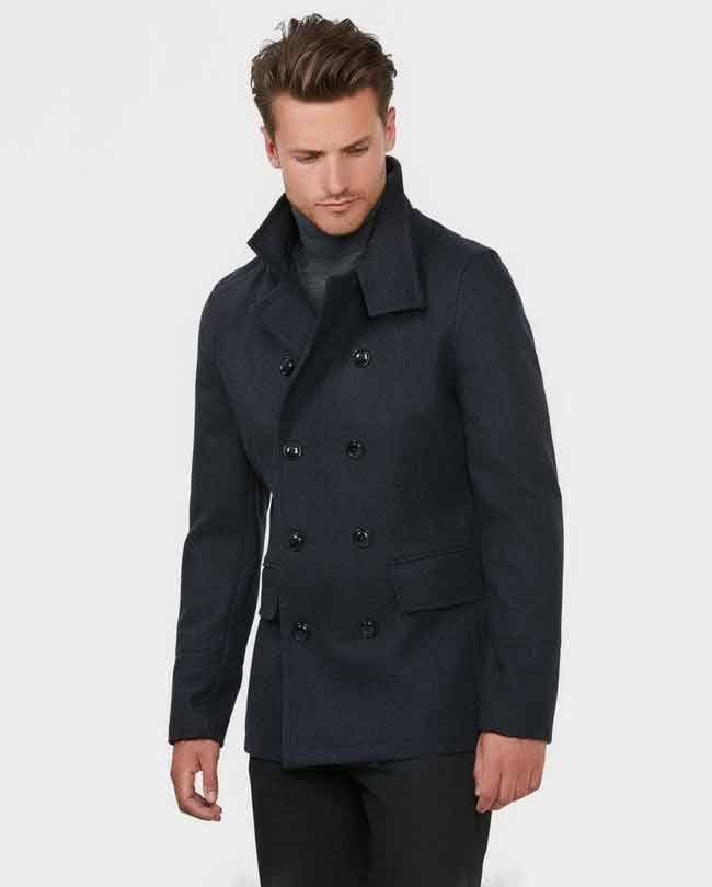 Herenmode, We Fashion jas in een wolmix met dubbele rij knopen en klep zakken MEER  http://www.pops-fashion.com/?p=30852