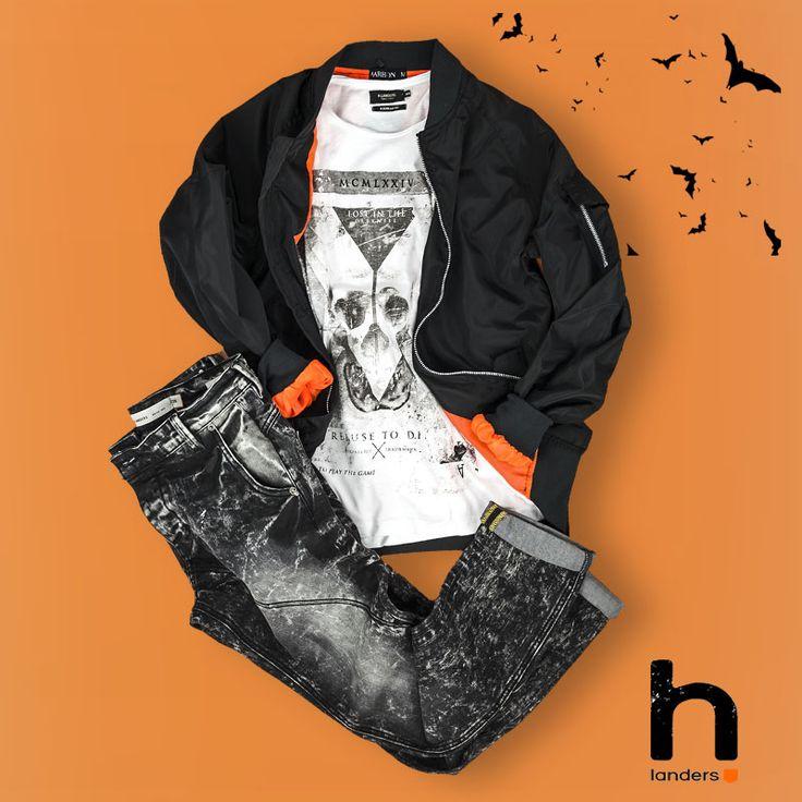Découvrez le Look #Hlanders pour #halloween ! Bombers ► http://www.hlanders.fr/fr/teddy-bomber-mode-homme-ado/1768-blouson-bombers-mode-homme-ab004-noir-0000601003639.html Tshirt Imprimé Skull ► http://www.hlanders.fr/fr/tee-shirt-mode-homme-ado/1844-tee-shirt-imprime-skull-mode-homme-mezzo-manches-longues-1030008000008.html?search_query=mezzo&results=1 Jeans Destroy…