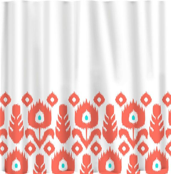 Custom Personalized Ikat Bottom Shower Curtain Your