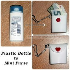 Mini Purse from old small plastic bottle