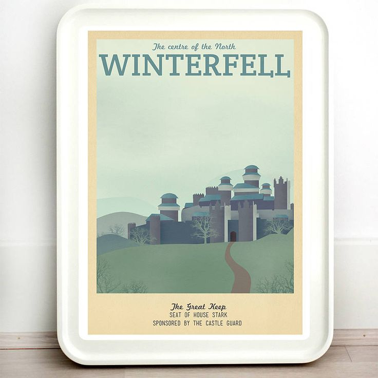 A high quality print taking you on a journey to City of Winterfell.I offer a range of sizes so please don't forget to choose the one that best suits your needs! If you would like any of the text changed on the print, please let me know via the 'ask seller a question' button, and I can do it for you with no extra charge. Prints are not framed. Frame shows is only for decoration purposes.The night is dark and full of terrors… So make sure you know where you're heading! If you love ...