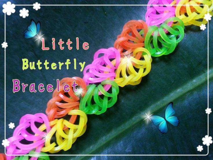Rainbow Loom Monster Tail Tutorial ~ 小蝴蝶手鍊 Little Butterfly Bracelet