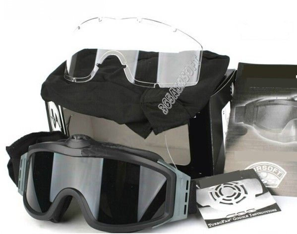 Tactical Goggle With Fan(Black)