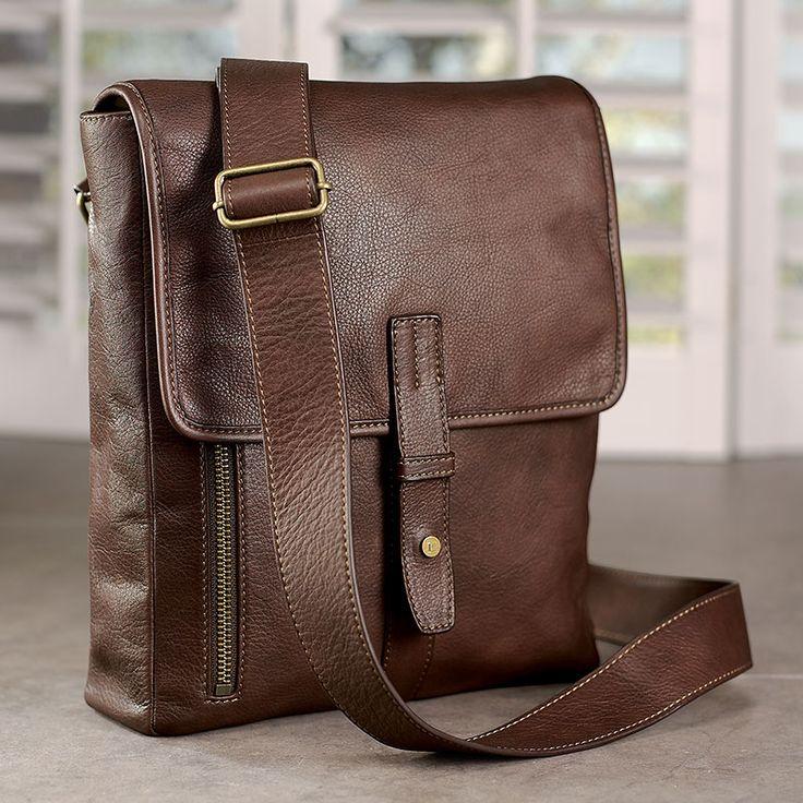 Belmont iPad Messenger - Leather ipad messenger bag, Men's messenger bag - Levenger [I want this bag for work.]