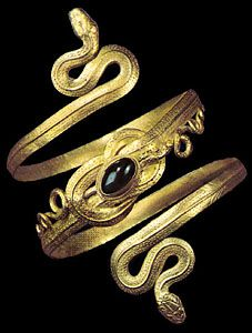 Ancient Greek bracelet that Selene wears - a gift from her mother | cynthia reccord