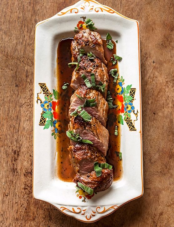 Pork tenderloin with madeira and sage