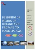 Blending or mixing - Butane & Propane to LPG
