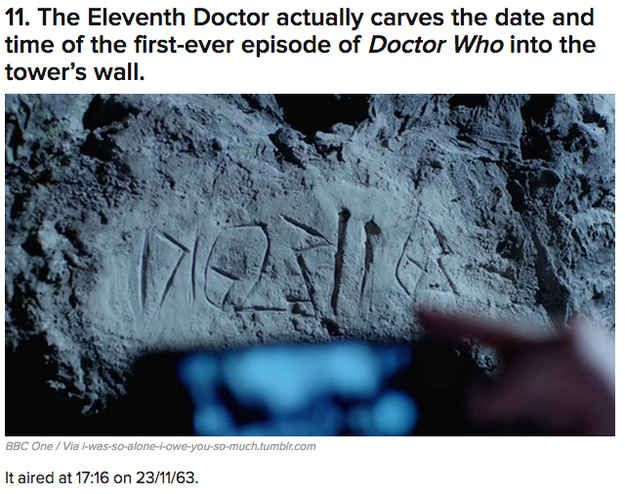 """The 35 Greatest Easter Eggs From The """"Doctor Who"""" 50th Special"""