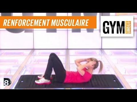 Cours gym : renfort musculaire 8 : Taille abdos & fessiers - YouTube