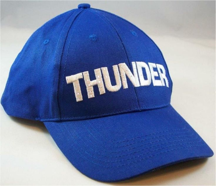 OKC Thunder Flashing Blue and White Cap Hat Replaceable Batteries Included #Unbranded #OKCThunder