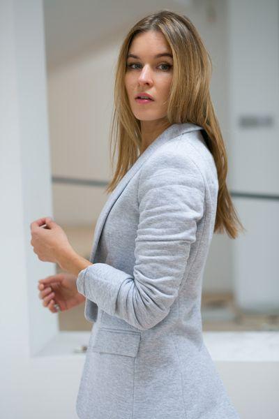 GIRL BOSS marynarka #grey #jacket #girlboss #classy #comfortably #riskmadeinwarsaw #5yearstogetger #polishbrand #fashion #outfit