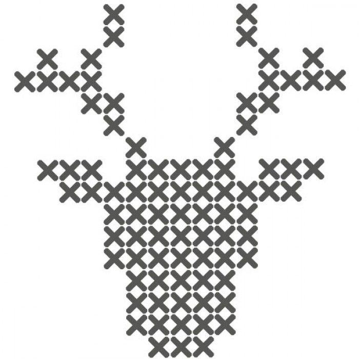 sticker patroon hert: losse kruisjes stickers om zelf te plakken