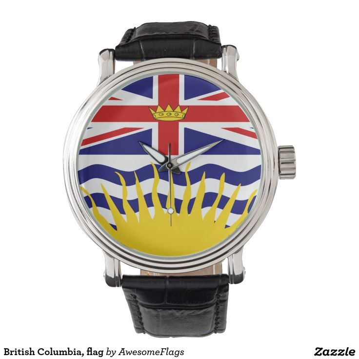British Columbia, flag Wristwatches