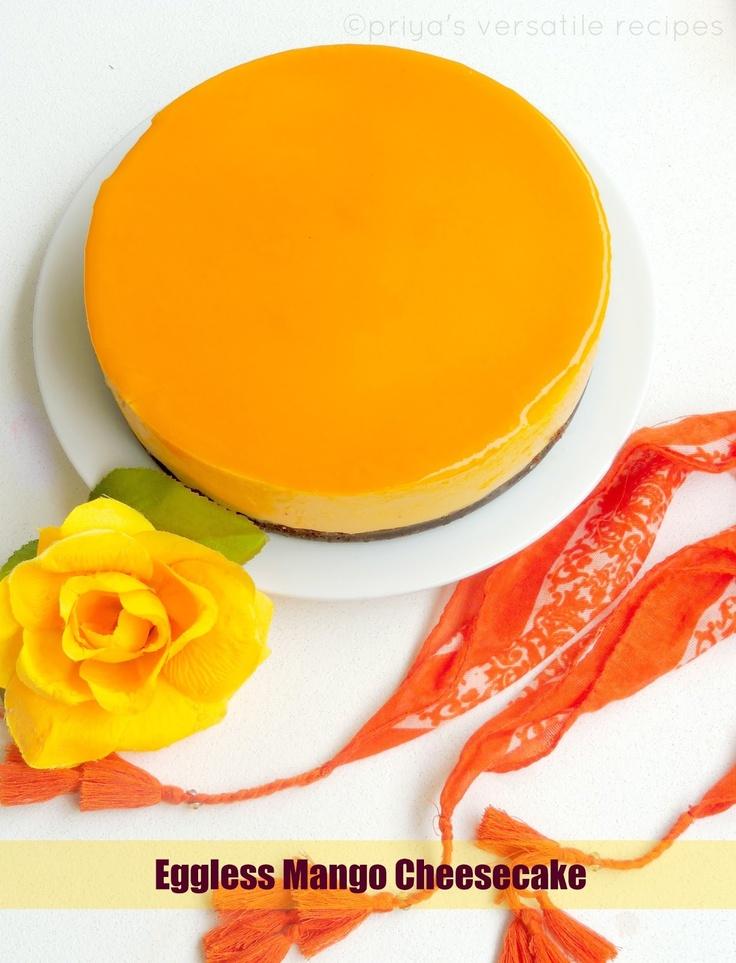 Mango Cheesecake avec Agar Agar...épinglé par Maurie Daboux..✿
