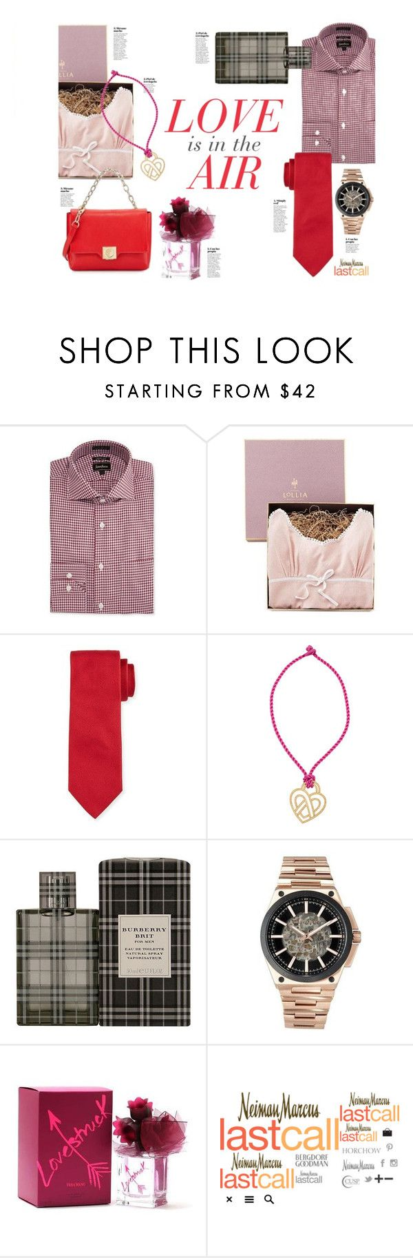 """Love is in the Air"" by lastcall ❤ liked on Polyvore featuring Neiman Marcus, Lollia, Brioni, Poiray Paris, Vera Wang, Lydell NYC and Versace"