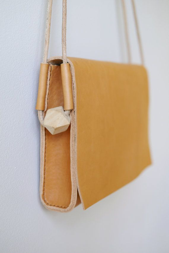 Just love the addition of the bead! Loop Crossbody Bag large leather shoulder bag by smallqueue