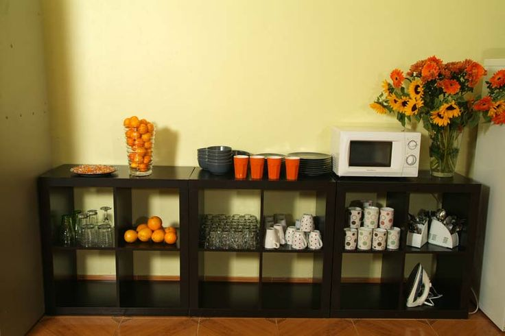 Images of accommodation Barcelona City Centre Hostel (Area with microwave, fridge, cutlery, crockery ...)