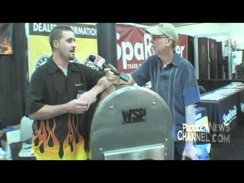 Wood Stove Pools on The Product News Report at the Vegas Pool and Spa show 2011