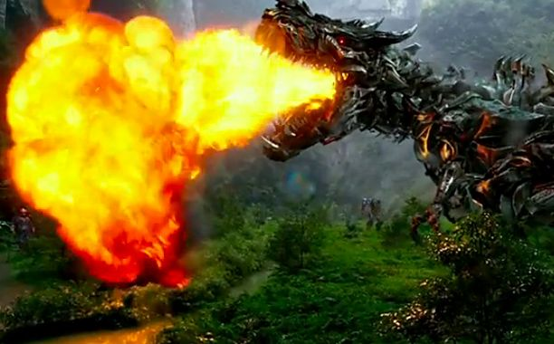 Now there's a new 'Transformers' trailer where the robot dinosaur breathes fire   EW.com