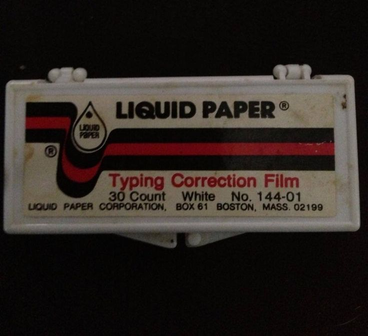 Liquid Paper Correction Film