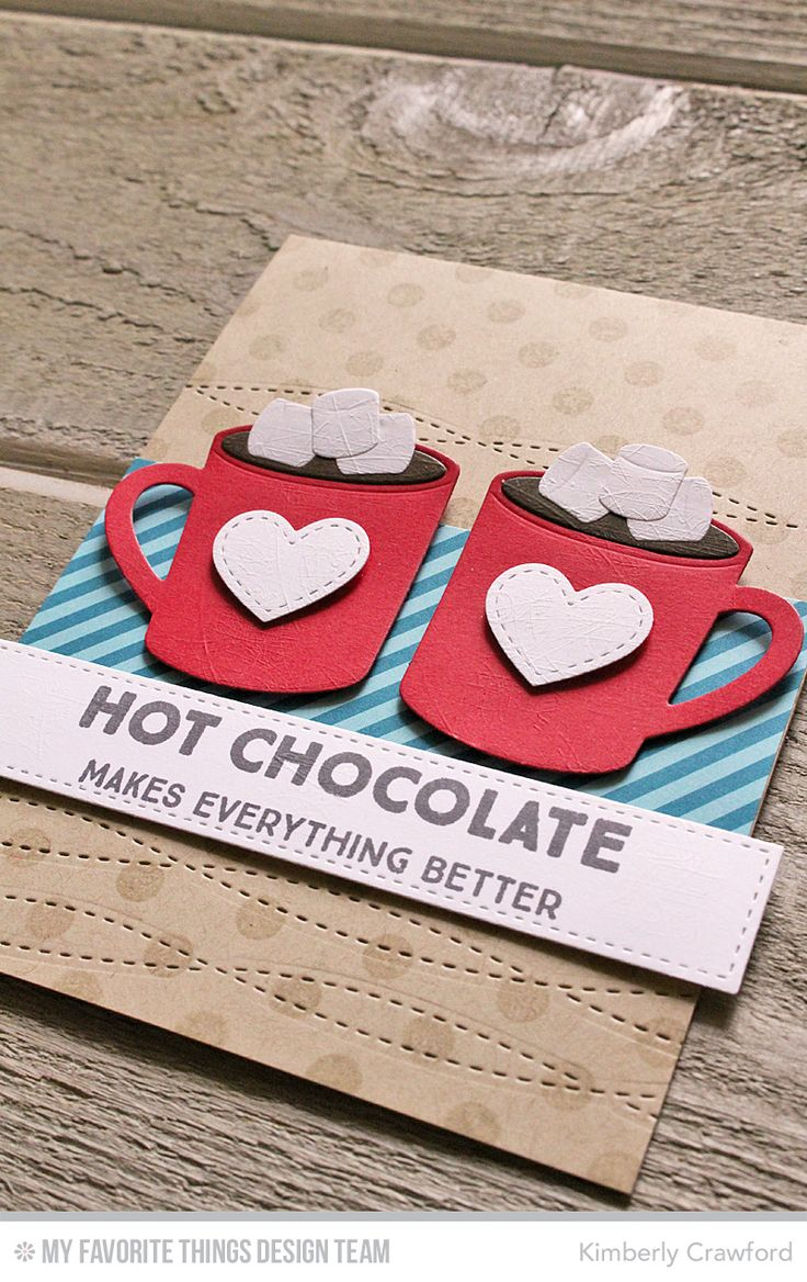 Card cup coffee tea cocoa MFT hot