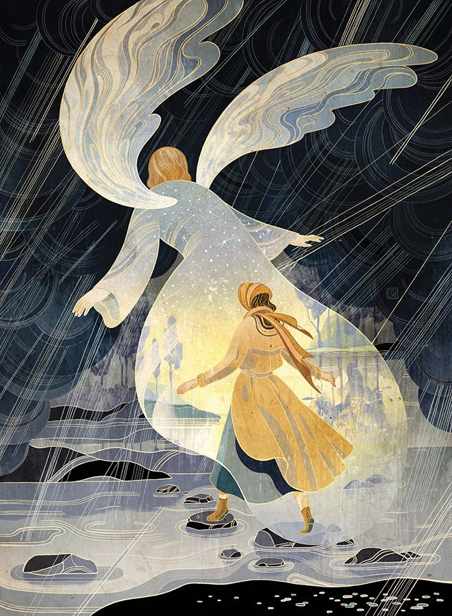 Guardian Angel Victo Ngai Happy new year, hope everyone has a blessed 2017 no matter your religion, race and beliefs! Latest illustration for Guidepost, accompanying a story about a WWII refugee shielded, kept dry and safe by a guardian angel through...