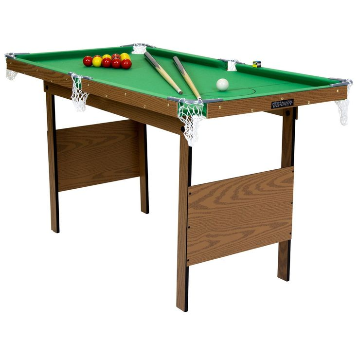 Best 25 folding pool table ideas on pinterest game - Taille table snooker ...