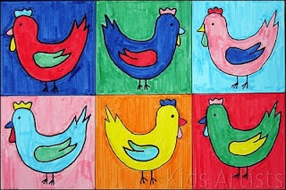Andy Warhol chickens