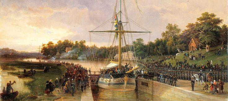 I mitten av juli 1850 reste Augusta med ångfartyget Götheborg från Söderköping till Göteborg för att vinka av sin bror August som skulle resa med fartyget Mimer mot Sydafrika. Augusta börjar sin reseberättelse med att beskriva sina medresenärer: Ett nygift par från, jag tror, Haparanda som såg ut att ennuyera sig förfärligt, occuperade en soffa, några enstaka fruntimmer, som tycktes ha jämmerligt tråkigt voro strödda …