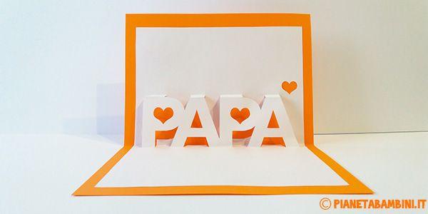 Biglietto Pop-Up per la Festa del Papà da Stampare