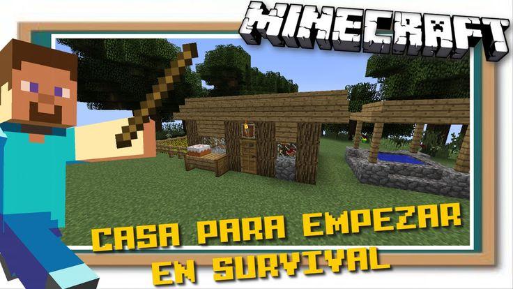 Minecraft | Casa Fácil y Bonita para empezar en Survival - http://cryptblizz.com/como-se-hace/minecraft-casa-facil-y-bonita-para-empezar-en-survival/