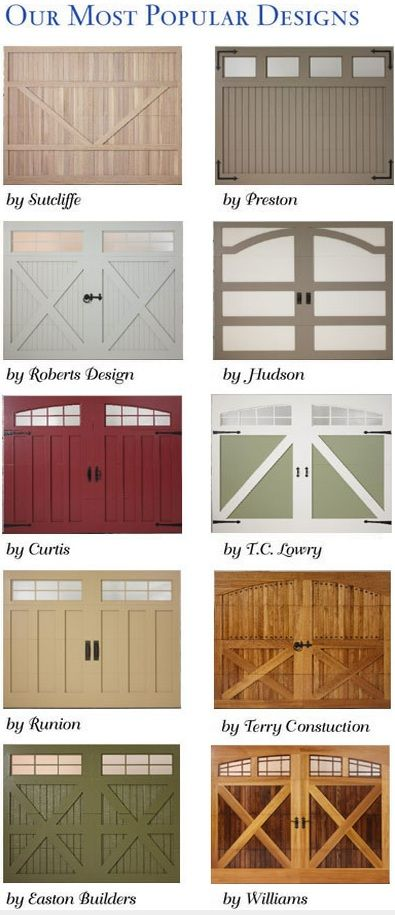 17 best ideas about detached garage designs on pinterest for Carriage door plans