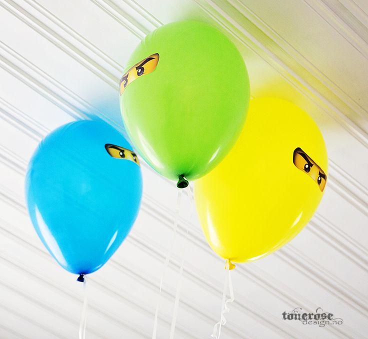 Free ninjago balloon printable! Ninja   Gratis print ninjago ballonger =)