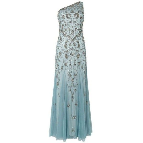 Great Gatsby Prom Dresses ❤ liked on Polyvore featuring dresses, roaring 20s dress, cocktail prom dress, blue prom dresses, blue dress and 20s flapper dress