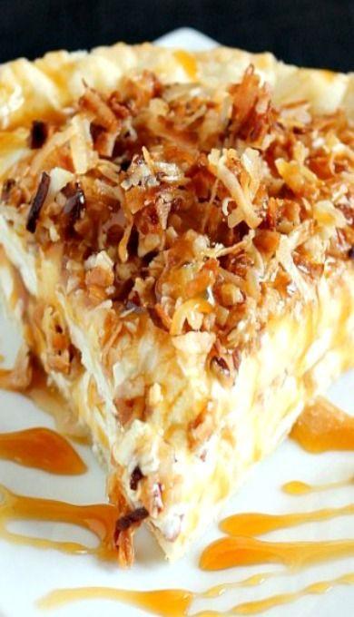 Caramel Coconut Cream Pie Recipe ~ crazy delicious!