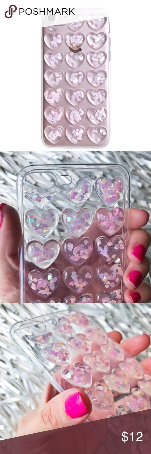 NEW iPhone 7 Plus/8 Plus 3D Glitter Soft TPU Case ▪️Fits iPhone 7 or 8 Plus Models     ▪️High Quality Soft TPU - Thick & Shock-Resistant     ▪️Same or Next Business Day Shipping !     **Phone Not Included** Accessories Phone Cases