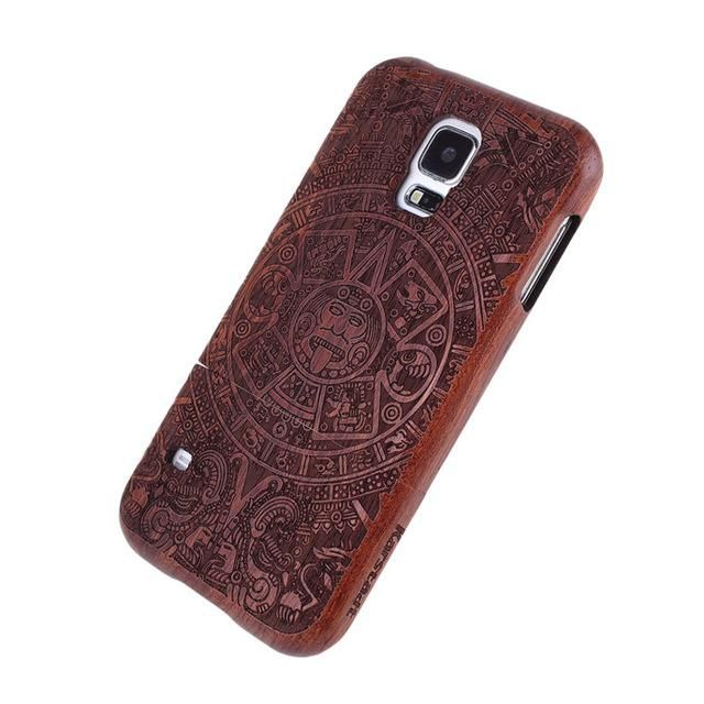 Bamboo Wood Carving Phone Cases For Samsung Galaxy S6 Edge S7 Plus/S4 MINI S5 MINI/NOTE 4/S4 S5 Neo