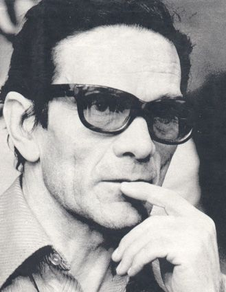 Pier Paolo Pasolini (March 5, 1922 – November 2, 1975) was an Italian film director, poet, writer and intellectual. Pasolini distinguished himself as a poet, journalist, philosopher, linguist, novelist, playwright, filmmaker, newspaper and magazine columnist, actor, painter and political figure.