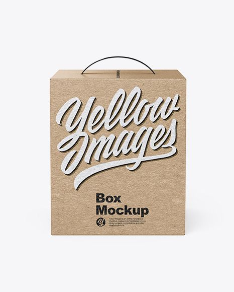 Download Kraft Box Mockup With Handle Front View High Angle Shot In Box Mockups On Yellow Images Object Mockups Box Mockup Mockup Free Psd Free Psd Mockups Templates